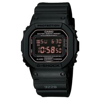 【CASIO】卡西歐G-SHOCK多時區鬧鈴電子錶-黑(DW-5600MS-1)