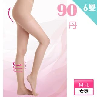 【Roberta di Camerino 諾貝達】90丹塑腹提臀彈性絲襪/褲襪-6雙(義大利品牌)