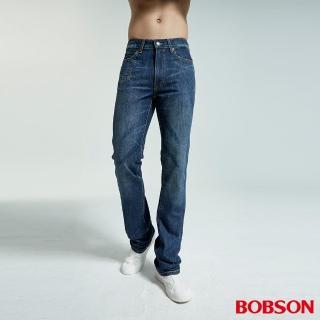 【BOBSON】男款鬼爪低腰喇叭牛仔褲(1701-53)