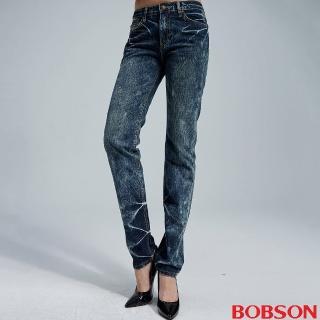 【BOBSON】女款鬆垮直筒牛仔褲(8050-53)