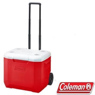 【美國 Coleman】美利紅托輪冰箱 56L.高效能行動冰箱.保冷保冰箱(CM-27864)
