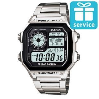 【CASIO】十年之旅世界城市數位錶(AE-1200WHD-1A)