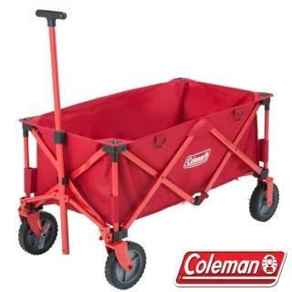【美國 Coleman】新款 耐重型多用途四輪拖車_載重100kg.折疊式裝備拖車(CM-21989)