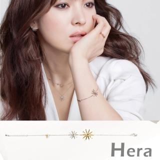 【Hera】太陽的後裔宋慧喬款雙色太陽花手鍊(銀色)