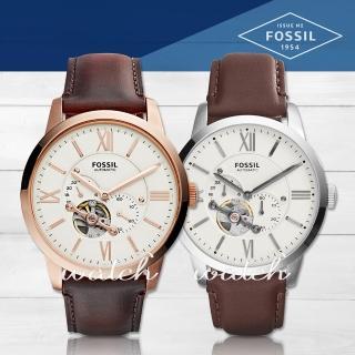 【FOSSIL】雜誌推薦款_品味優雅_機械紳士皮革男錶(ME3105)