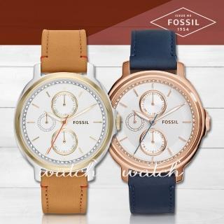 【FOSSIL】雜誌推薦款_三眼時尚晶鑽_女錶(ES3523)