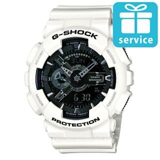 【CASIO】G-SHOCK 超人氣冷冽強悍個性錶(GA-110GW-7A)