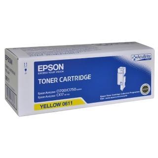 【EPSON】AL-C1700/C1750N/C1750W/CX17NF黃色碳粉匣(S050611)
