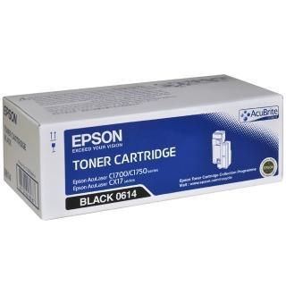 【EPSON】AL-C1700/C1750N/C1750W/CX17NF 黑色碳粉匣(S050614)