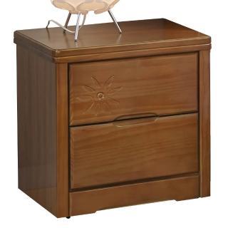 【顛覆設計】克里斯花實木1.6尺二抽床頭櫃