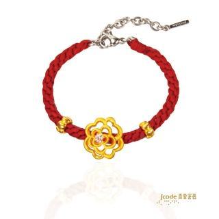 【J'code 真愛密碼】圓滿富貴編織手鍊(時尚金飾)