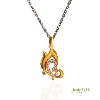 【J'code 真愛密碼】幸福飛舞金銀配項鍊(時尚金飾)