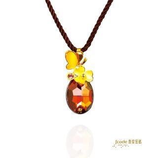 【J'code 真愛密碼】花中蝶影金銀配墜子(時尚金飾)