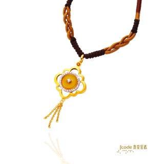 【J'code 真愛密碼】玉如意繩項鍊-黃玉(時尚金飾)