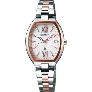 【SEIKO】LUKIA 鈦優太陽能電波腕錶-銀x雙色版(1B22-0BY0KS  SSQW028J)
