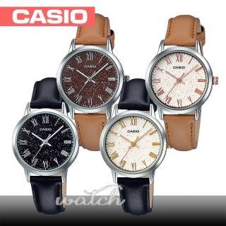 【CASIO 卡西歐】送禮首選-貴氣時尚閃爍皮革錶款(LTP-TW100L)