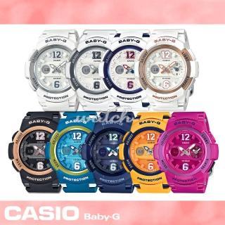 【CASIO卡西歐BABY-G系列】繽紛色彩雙顯運動女錶(BGA-210)