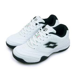 【LOTTO】女 多功能運動鞋 ROMA(白黑 2068-2)