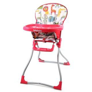 【BabyBabe】兒童高腳餐椅(紅色)