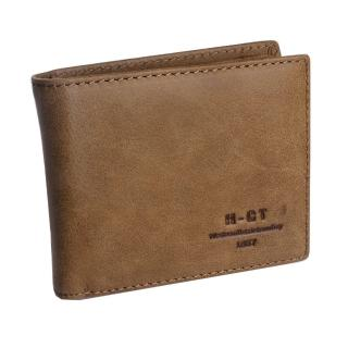 【H-CT】素面簡約多卡夾真皮淺棕短夾(7003#淺棕-Z)