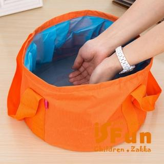 【iSFun】露營戲水*旅行摺疊水桶袋/隨機色