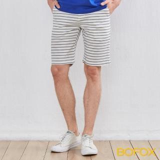 【BOFOX 寶狐】海軍風休閒短褲(米白)