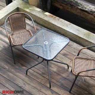 【RICHOME】奧利爾玻璃方桌