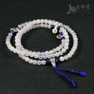 【金郁豐】頂級冰種白玉髓108顆圓珠項鍊(6mm)