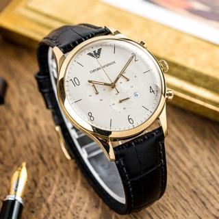 【ARMANI】經典三眼時尚腕錶(AR1892)