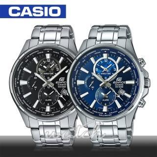 【CASIO 卡西歐 EDIFICE 系列】日系三眼多層次錶盤不鏽鋼_賽車錶(EFR-304D)