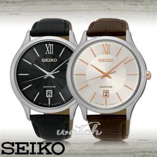 【SEIKO 精工】簡單時尚_品味優雅紳士男錶(SGEH53P2/SGEH55P1)