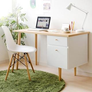 【樂活主義】曼德日系雙抽電腦桌/工作桌/書桌(2色可選)