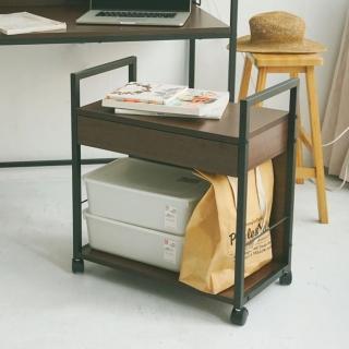 【樂活主義】高機能移動式附抽檔案櫃/桌邊櫃(2色可選)