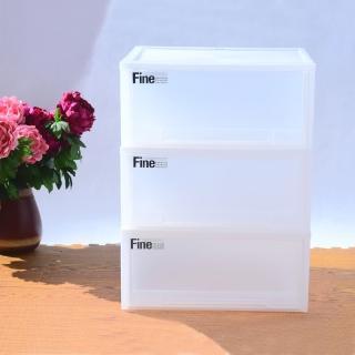 【生活King】Fine單層抽式收納櫃-43L(3入)