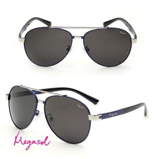 【MEGASOL】電影明星同款UV400偏光太陽眼鏡(鎳合金純手工鏡架MS8023-4色任選)