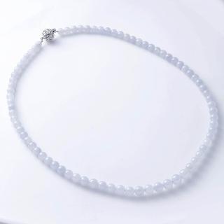 【Artsda】紫翡悠揚圓珠項鍊(天然A貨 18K金扣頭 僅此一件)