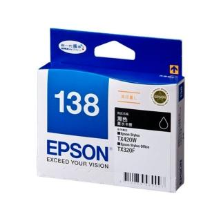 【EPSON】No.138 黑色墨水匣 / 高印量L(T138150)