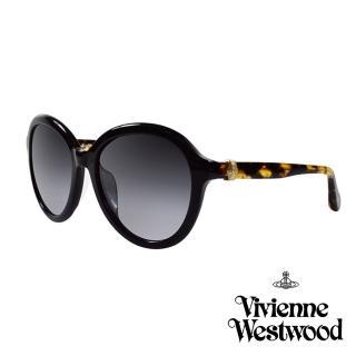 【Vivienne Westwood 英國 太陽眼鏡】立體龐克多邊形土星款(AN84301_琥珀黃)