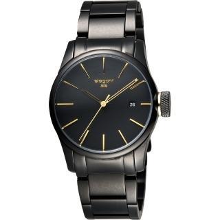【elegantsis】JT41 都會流行腕錶-黑金/36mm(ELJT41-VO09MA)