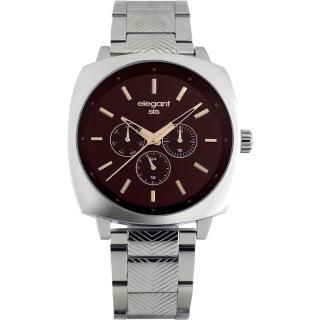 【elegantsis】星際爭霸日曆腕錶-咖啡x銀/44mm(ELJT25-VB03MA)