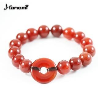 【Hanami】天然紅玉隨平安扣手鍊