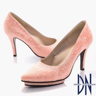 【DN】幸福婚鞋 MIT 浪漫蕾絲尖頭高跟鞋(粉)