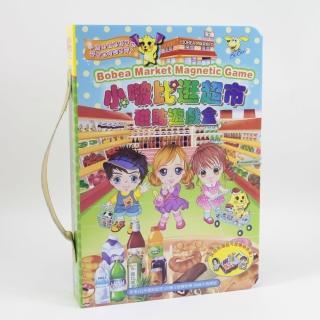 【孩子國】小啵比逛超市磁貼遊戲盒(磁鐵書)