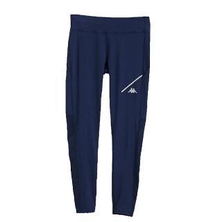 【KAPPA】義大利 時尚舒適女慢跑KOOL DRY緊身褲 合身版(新丈青)