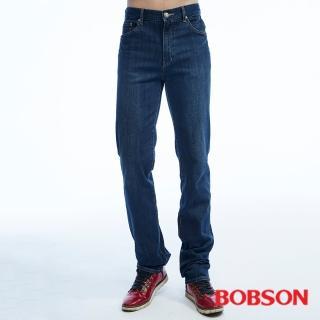 【BOBSON】男款保暖高腰膠原蛋白直筒褲(藍1792-53)
