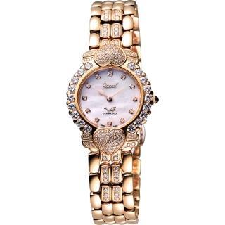 【Ogival】愛其華 心心相印真鑽腕錶-玫塊金(380-082DLR)