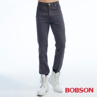 【BOBSON】男款保暖高腰膠原蛋白直筒褲(深灰1815-85)