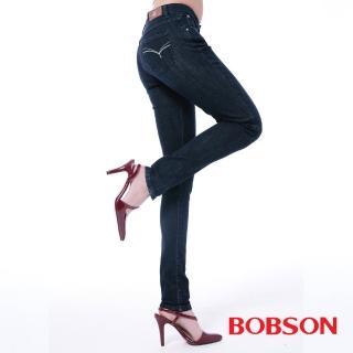 【BOBSON】女款保暖膠原蛋白小直筒褲(8098-52)
