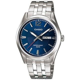 【CASIO 卡西歐】品味優雅紳士_不鏽鋼指針型男錶(MTP-1335D)