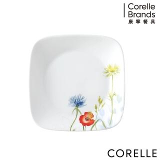 【美國康寧 CORELLE】花漾彩繪方形6吋平盤(2206)